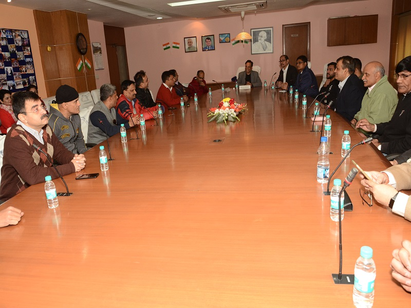 Visit of Army Officers